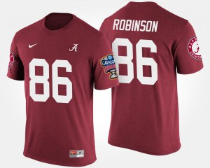 Alabama #86 Men A'Shawn Robinson T-Shirt Crimson Alumni Sugar Bowl Bowl Game 826358-649