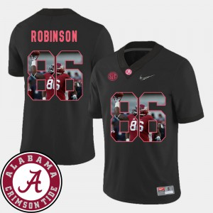 University of Alabama #86 Men's A'Shawn Robinson Jersey Black Football Pictorial Fashion Embroidery 892585-962