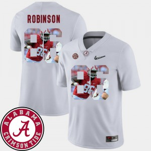 Bama #86 Men's A'Shawn Robinson Jersey White Football Pictorial Fashion College 465338-262
