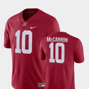 Alabama Roll Tide #10 Men AJ McCarron Jersey Crimson College Game College Football 697595-232