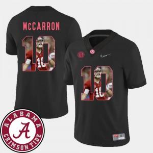 Bama #10 Men's AJ McCarron Jersey Black Football Pictorial Fashion NCAA 312133-740