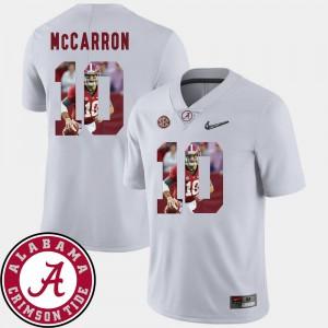 Alabama #10 Men's AJ McCarron Jersey White Player Pictorial Fashion Football 991371-340