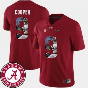 Alabama Crimson Tide #9 Men's Amari Cooper Jersey Crimson Stitched Football Pictorial Fashion 720050-494