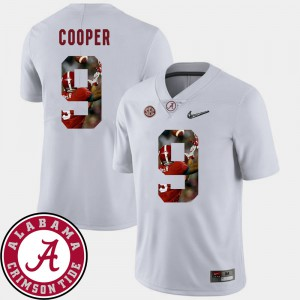 Roll Tide #9 For Men Amari Cooper Jersey White NCAA Football Pictorial Fashion 130966-870