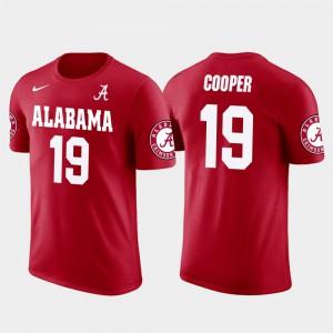 Alabama #19 Men Amari Cooper T-Shirt Red NCAA Future Stars Dallas Cowboys Football 393760-482