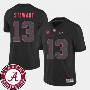 Alabama Roll Tide #13 For Men ArDarius Stewart Jersey Black High School 2018 SEC Patch College Football 546169-288