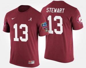Alabama Crimson Tide #13 For Men ArDarius Stewart T-Shirt Crimson Player Bowl Game Sugar Bowl 556500-884