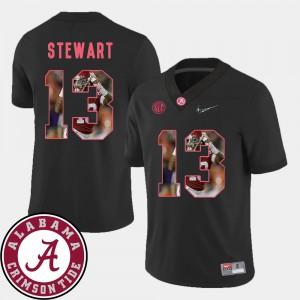 University of Alabama #13 Men ArDarius Stewart Jersey Black University Football Pictorial Fashion 556561-490
