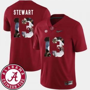 Alabama Roll Tide #13 For Men's ArDarius Stewart Jersey Crimson Football Pictorial Fashion Player 835064-507