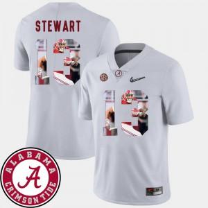 Alabama #13 Mens ArDarius Stewart Jersey White High School Pictorial Fashion Football 601062-269