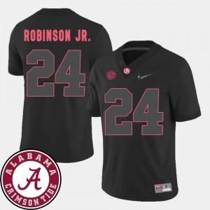 Alabama Crimson Tide #24 Mens Brian Robinson Jr. Jersey Black 2018 SEC Patch College Football Alumni 978405-260
