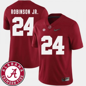 Roll Tide #24 For Men's Brian Robinson Jr. Jersey Crimson Official 2018 SEC Patch College Football 409097-321