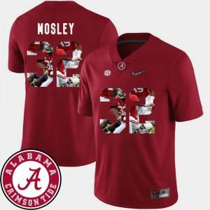 Alabama #32 Men C.J. Mosley Jersey Crimson Stitch Pictorial Fashion Football 529857-757