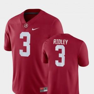 Alabama #3 Men's Calvin Ridley Jersey Crimson Embroidery Game College Football 539894-216