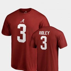 Alabama Roll Tide #3 Mens Calvin Ridley T-Shirt Crimson High School College Legends Name & Number 986909-431