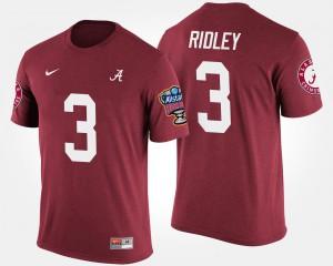 Alabama #3 Men Calvin Ridley T-Shirt Crimson Player Bowl Game Sugar Bowl 784623-188