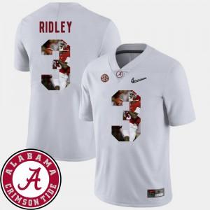 University of Alabama #3 Men Calvin Ridley Jersey White Football Pictorial Fashion Player 517755-197