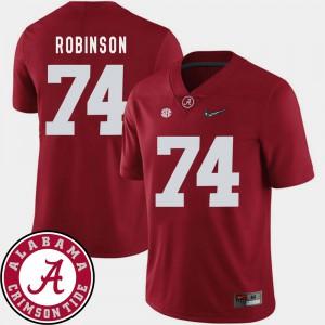 Alabama #74 For Men's Cam Robinson Jersey Crimson 2018 SEC Patch College Football Player 346824-132