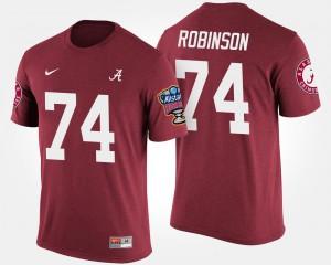 Roll Tide #74 Mens Cam Robinson T-Shirt Crimson NCAA Sugar Bowl Bowl Game 961598-807