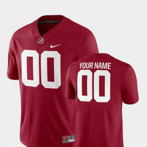 Roll Tide #00 For Men Customized Jerseys Crimson 2018 Game College Football Embroidery 594734-885