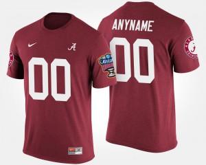University of Alabama #00 Men Custom T-Shirts Crimson Stitch Sugar Bowl Bowl Game 140993-232