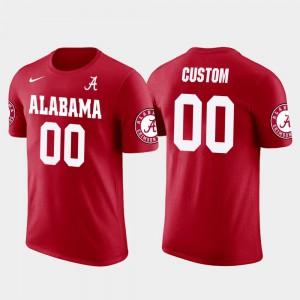 Alabama #00 Men Customized T-Shirts Red Stitched Cotton Football Future Stars 655244-423