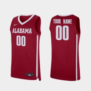Roll Tide #00 Mens Customized Jersey Crimson College College Basketball Replica 364286-905