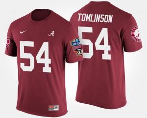 Alabama #54 Men Dalvin Tomlinson T-Shirt Crimson Sugar Bowl Bowl Game Embroidery 446925-478