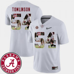 Bama #54 Mens Dalvin Tomlinson Jersey White Embroidery Football Pictorial Fashion 932840-387