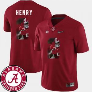 University of Alabama #2 Men's Derrick Henry Jersey Crimson Football Pictorial Fashion College 447267-750
