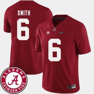 Bama #6 Mens DeVonta Smith Jersey Crimson Stitched College Football 2018 SEC Patch 141397-315