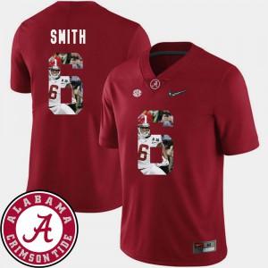 Bama #6 For Men DeVonta Smith Jersey Crimson High School Pictorial Fashion Football 944371-604