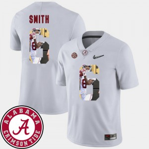 Roll Tide #6 For Men DeVonta Smith Jersey White Stitch Pictorial Fashion Football 881679-817