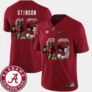 Alabama Crimson Tide #49 Men's Ed Stinson Jersey Crimson Football Pictorial Fashion NCAA 999389-652