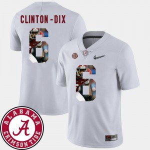 Alabama Crimson Tide #6 For Men's Ha Ha Clinton-Dix Jersey White University Football Pictorial Fashion 862375-205