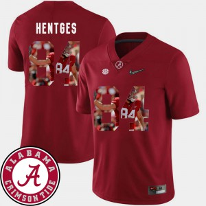 Bama #84 Men Hale Hentges Jersey Crimson Football Pictorial Fashion Stitched 184099-116