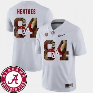 Alabama #84 Men's Hale Hentges Jersey White Stitch Football Pictorial Fashion 114195-822