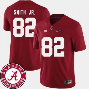 Alabama Crimson Tide #82 Mens Irv Smith Jr. Jersey Crimson NCAA 2018 SEC Patch College Football 825896-411