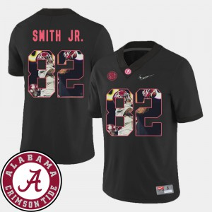 Roll Tide #82 Men Irv Smith Jr. Jersey Black Player Football Pictorial Fashion 530645-598