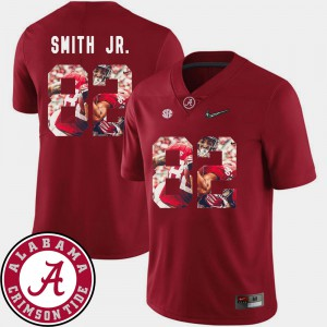 Alabama #82 Men's Irv Smith Jr. Jersey Crimson Football Pictorial Fashion College 884612-852
