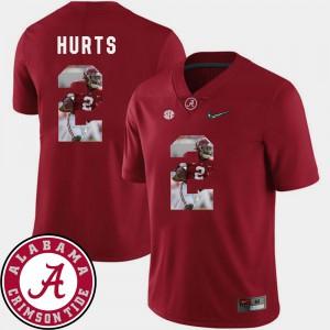 Alabama Crimson Tide #2 Men Jalen Hurts Jersey Crimson Official Pictorial Fashion Football 899134-823