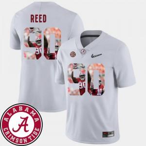 Alabama Crimson Tide #90 For Men's Jarran Reed Jersey White Player Football Pictorial Fashion 742143-362