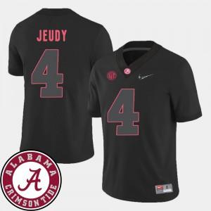 Alabama Roll Tide #4 For Men Jerry Jeudy Jersey Black Stitch 2018 SEC Patch College Football 571269-282