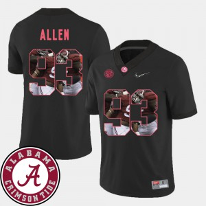 University of Alabama #93 For Men Jonathan Allen Jersey Black Stitched Pictorial Fashion Football 412669-703