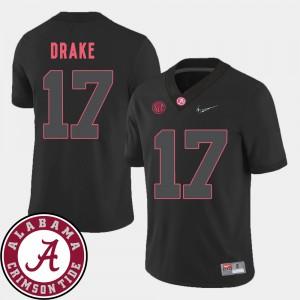 Alabama #17 For Men Kenyan Drake Jersey Black 2018 SEC Patch College Football Alumni 367613-359