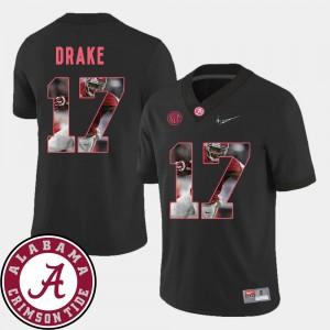 Alabama Crimson Tide #17 For Men's Kenyan Drake Jersey Black High School Football Pictorial Fashion 486281-384