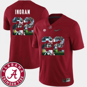 University of Alabama #22 Mens Mark Ingram Jersey Crimson Embroidery Football Pictorial Fashion 164463-284