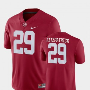 Bama #29 Men Minkah Fitzpatrick Jersey Crimson Stitch Game College Football 341047-635