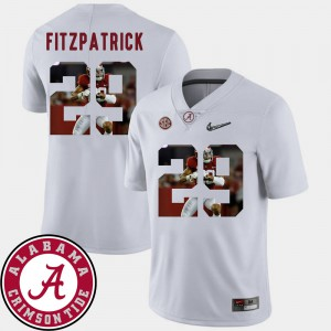 Alabama Roll Tide #29 For Men's Minkah Fitzpatrick Jersey White NCAA Pictorial Fashion Football 989603-439