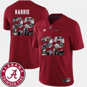 Alabama Crimson Tide #22 Men's Najee Harris Jersey Crimson College Football Pictorial Fashion 567264-580